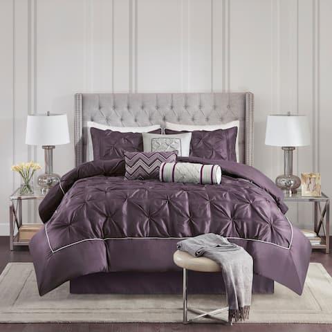 Madison Park Lafayette Plum 7 Piece Comforter Set