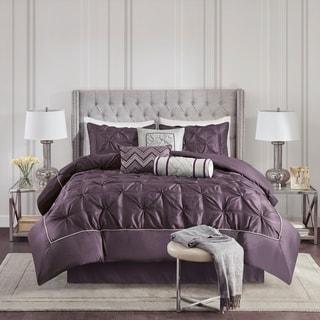 Link to Madison Park Lafayette Plum 7 Piece Comforter Set Similar Items in Comforter Sets