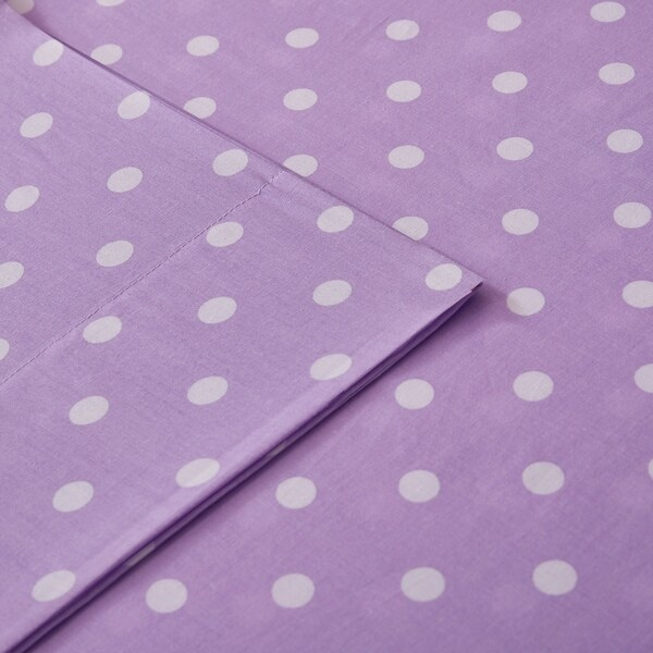 Mi Zone Polka Dot Printed 100/% Cotton Sheet Set