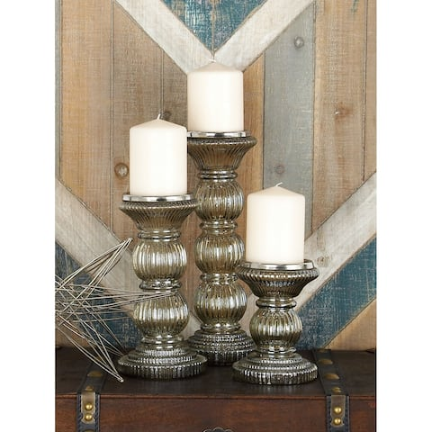The Gray Barn Joyful Stream Unique Glass Candle Holder (Set of 3)