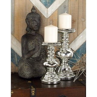 Link to The Gray Barn Joyful Stream Enticing Glass Candle Holder (Set of 2) Similar Items in Decorative Accessories