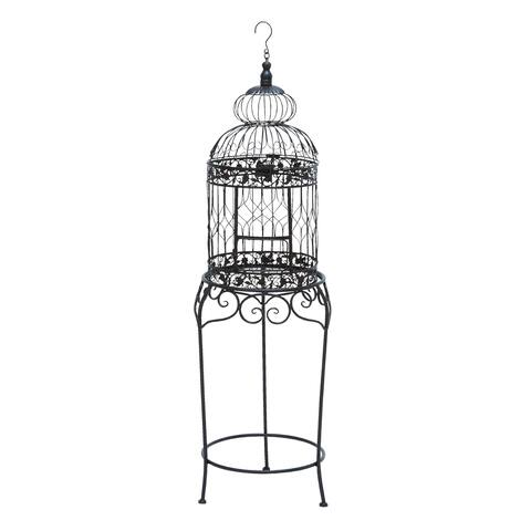The Curated Nomad Jiminez Victorian Style Bird Cage With Wrought Iron