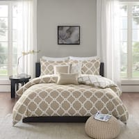Madison Park Diablo Taupe 6-piece Reversible Duvet Cover Set