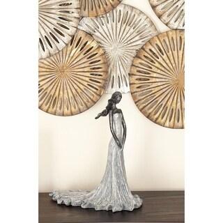 Copper Grove Iris Modern Reflections Grey Polystone Female Figure Sculpture