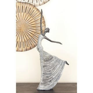 Copper Grove Iris Grey Resin 12-inches Wide X 21-inches High Polystone Dancer Sculpture