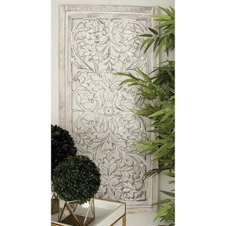 The Gray Barn Joyful Stream Off-White Wood 51-inch x 24-inch Decorative Wall Panel