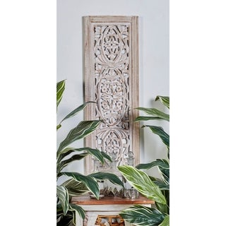 The Gray Barn Joyful Stream Off-White Wood 36-inch x 12-inch Decorative Wall Panel