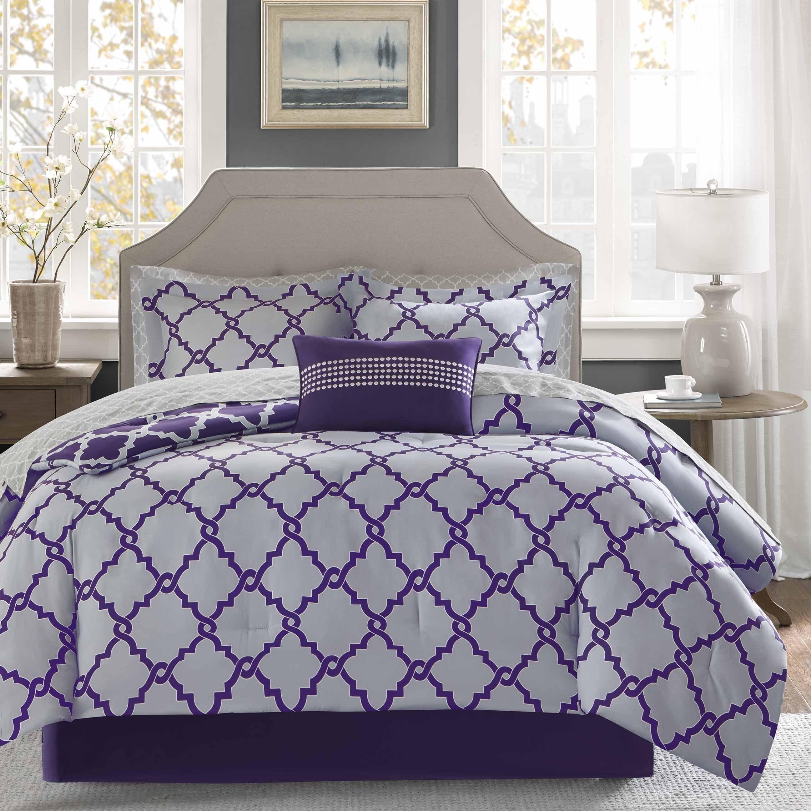Shop Madison Park Essentials Concord Purple Grey Reversible