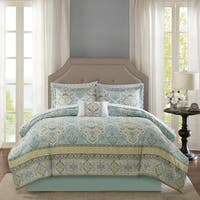 Copper Grove Coola Aqua Complete Comforter and Cotton Sheet Set