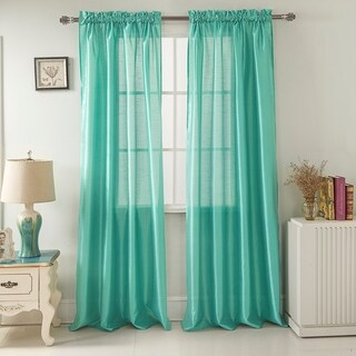 Clay Alder Home Eads Faux Silk 90-inch Rod Pocket Curtain Panel