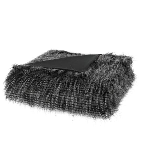 Madison Park Adelaide Year Round Premium Luxury Faux Fur Throw