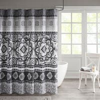 510 Design Kori Printed  Shower Curtain 2 Color Option