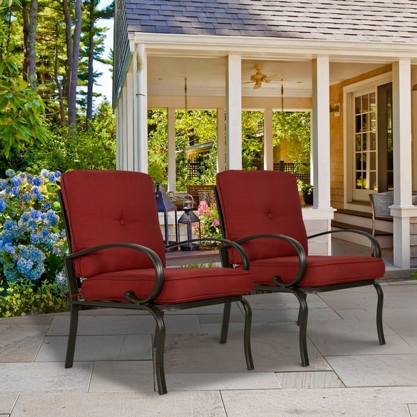 Shop Set Of 2 Patio Club Chairs Outdoor Patio Dining Chairs Wrought