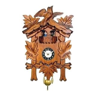 """Alexander TaronEngstler Battery-operated Cuckoo Clock - Full Size - 9.75""""H x 7""""W x 3.75""""D"""