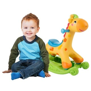 Rocking Horse Ride-on Toy for Children-Can be a Rocker or Roll & Push and Ride-Helps Develop Strength, Balance-by Happy Trails