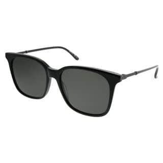 c2bcea0e32 Bottega Veneta Square BV 0131S 001 Unisex Black Frame Grey Lens Sunglasses
