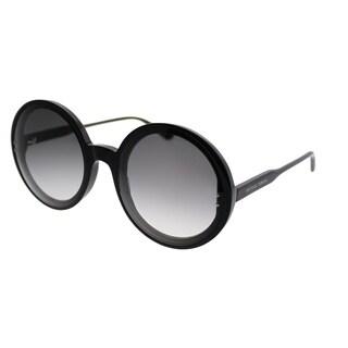 Bottega Veneta Round BV 0166S 001 Women Black Frame Grey Gradient Lens Sunglasses