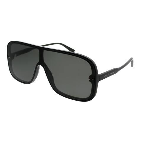 Bottega Veneta Square BV 0167S 001 Unisex Black Frame Grey Lens Sunglasses