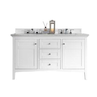 "Link to Palisades 60"" Double Vanity, Bright White Similar Items in Bathroom Vanities"