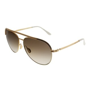Elie Saab Aviator ES 012/S Vague 01Q VU Women Gold Plated Brown Frame Gold Mirror Gradient Zeiss Lens Sunglasses