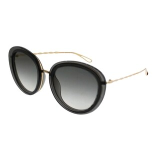 Elie Saab Cat-Eye ES 007/S Chaine FT3 5B Women Grey Gold Plated Frame Gold Mirror Gradient Zeiss Lens Sunglasses