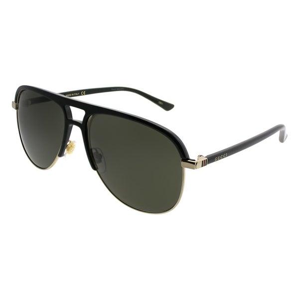63bffd8862 Gucci Aviator GG 0292S 001 Unisex Black Frame Grey Lens Sunglasses