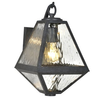 Crystorama Brian Patrick Flynn Glacier Collection 1-light Black Charcoal Outdoor Wall Sconce