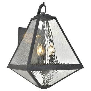 Crystorama Brian Patrick Flynn Glacier Collection 3-light Black Charcoal Outdoor Wall Sconce