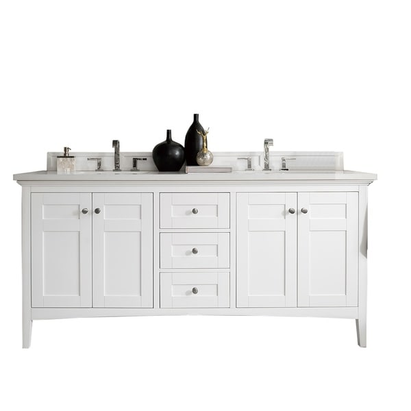"Palisades 72"" Double Vanity, Bright White"