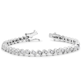 1ct TDW Diamond S Bracelet, 7 Inches