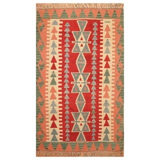 Handmade Anatolia Wool Kilim (Turkey) - 3'5 x 5'4