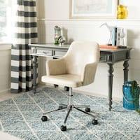 Safavieh Cadence Beige/ Chrome Swivel Office Chair