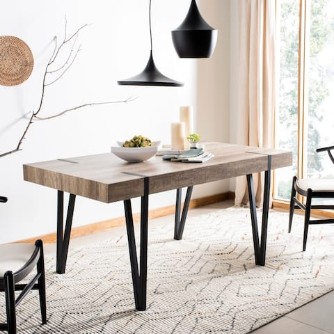 "Safavieh Alyssa Brown Rustic Mid-Century Dining Table - Multi - 59.1"" x 35.4"" x 29.5"""