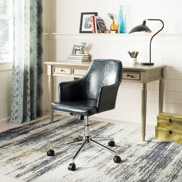 "Carbon Loft Earl Dark Grey/ Chrome Swivel Office Chair - 21.5"" x 22.8"" x 35"""