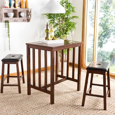 "Safavieh Ilana Chestnut Brown 3-piece Pub Set - 32"" x 24"" x 36"""