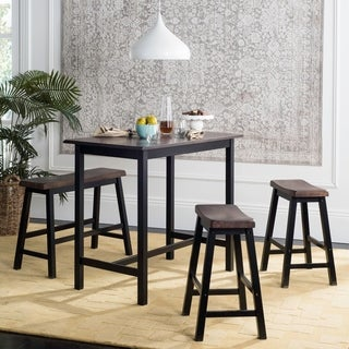 Merveilleux Safavieh Haley Black/ Brown 4 Piece Pub Set