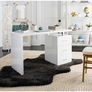 Safavieh Orrin White Chrome Desk