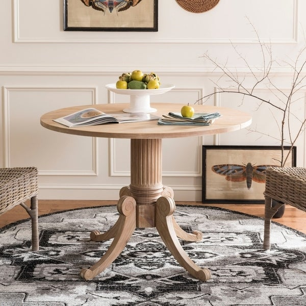 Safavieh Forest Rustic Natural Drop Leaf Dining Table 43 3 X27