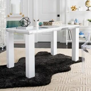 Safavieh Enos White Chrome Desk