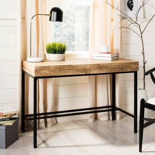 Safavieh Patrick Brown/ Black 2-drawer Desk