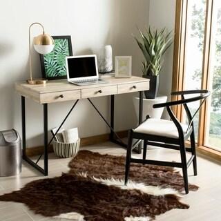 Safavieh Hilton Rustic Brown/ Black 3-drawer Desk