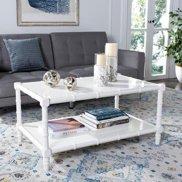 Overstock White Coffee Table.Shop Safavieh Noam White Coffee Table 14 6 X 36 X 30 On Sale