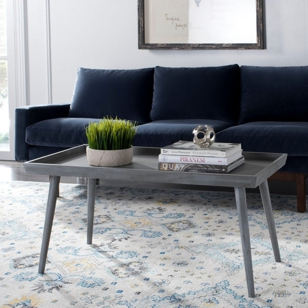 Safavieh Nonie Slate Grey Coffee Table With Tray