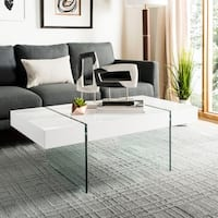 Safavieh Jacob White Glass Coffee Table