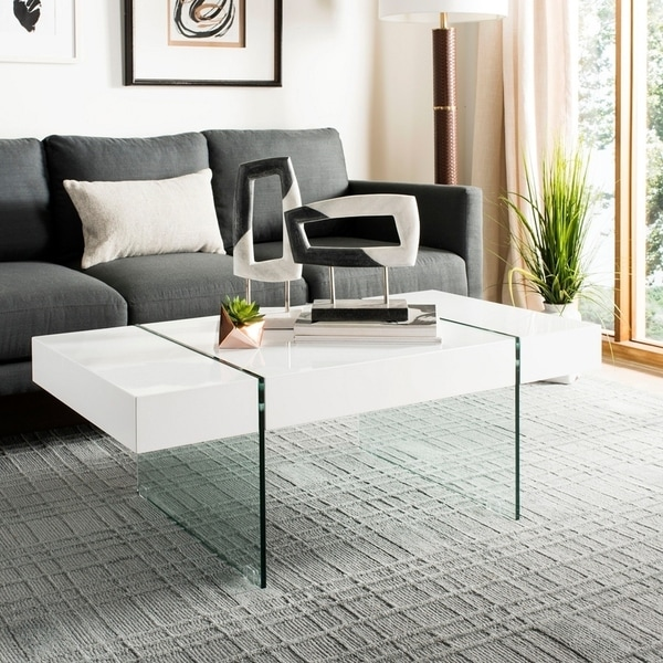 Safavieh Jacob White Glass Coffee Table by Safavieh