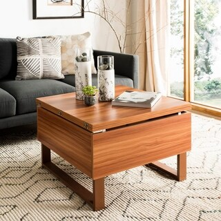"Safavieh Vanna Brown Lift-Top Coffee Table - 27.6"" x 27.6"" x 19.1"""