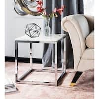 Safavieh Bethany White/ Chrome Square End Table
