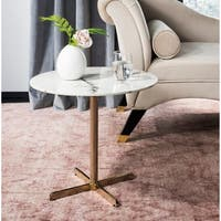 Safavieh Winnie White/ Brass Round Side Table