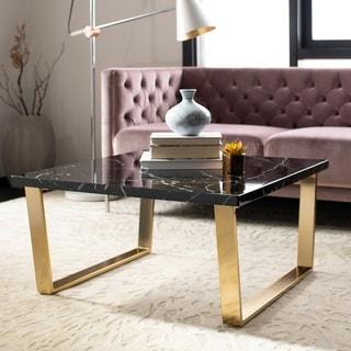 Safavieh Carmen Black/ Brass Square Coffee Table