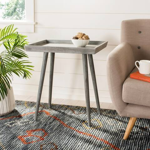 "SAFAVIEH Nonie Slate/ Grey Tray Accent Table - 23.5"" x 15.8"" x 25.3"""